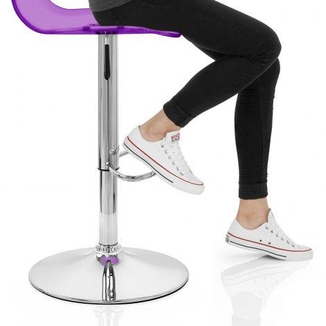 Odyssey Acrylic Stool Purple Seat Image