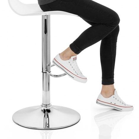 Odyssey Acrylic Stool White Seat Image