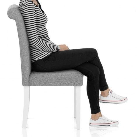 Ohio Dining Chair Grey Fabric Frame Image