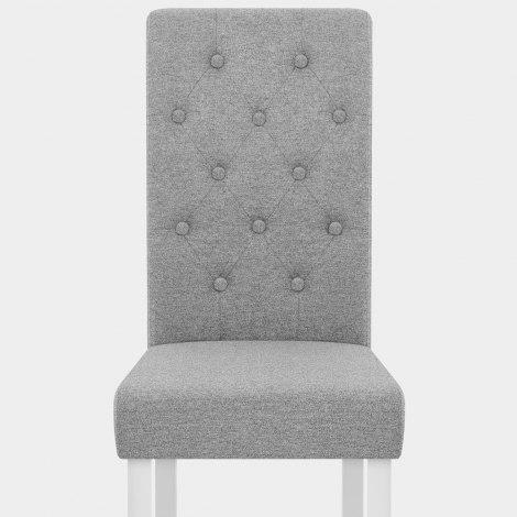 Ohio Dining Chair Grey Fabric Seat Image