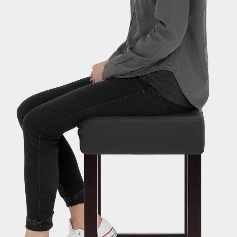Oliver Wenge Stool Black Seat Image