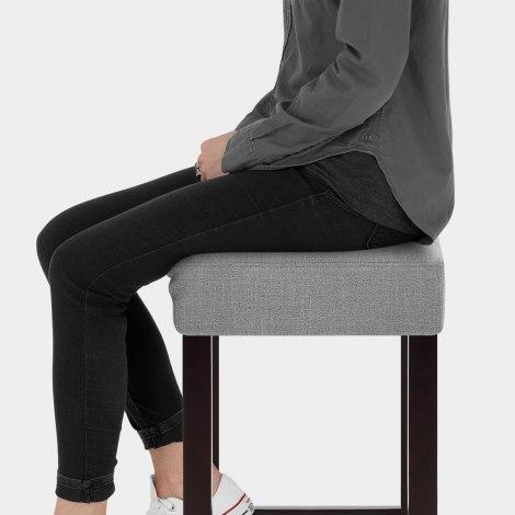 Oliver Wenge Stool Grey Fabric Seat Image