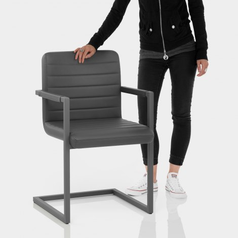 Omega Dining Chair Grey Features Image