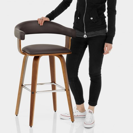 Ontario Walnut Bar Stool Brown Features Image