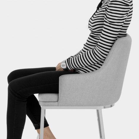 Orion Bar Stool Grey Fabric Seat Image