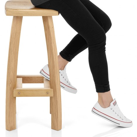 Oslo Oak Bar Stool Seat Image