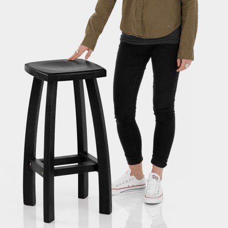 Oslo Bar Stool Black Features Image