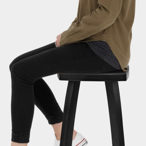 Oslo Bar Stool Black Seat Image