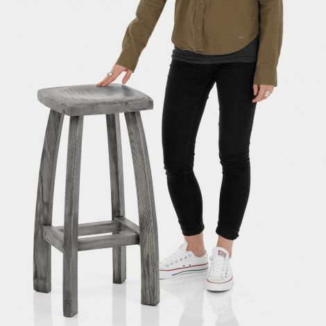 Oslo Bar Stool Grey Features Image