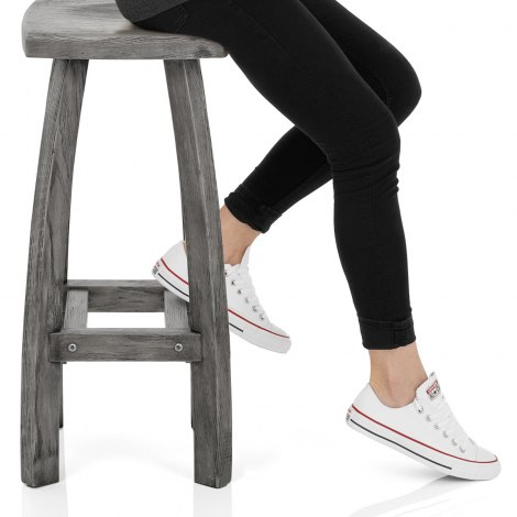 Oslo Bar Stool Grey Frame Image