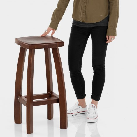 Oslo Walnut Bar Stool Features Image