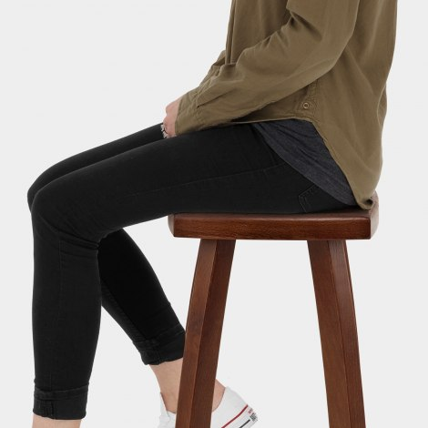 Oslo Walnut Bar Stool Seat Image
