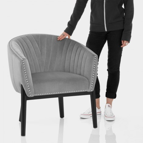 Overture Chair Grey Velvet Features Image