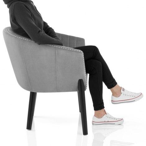 Overture Chair Grey Velvet Frame Image