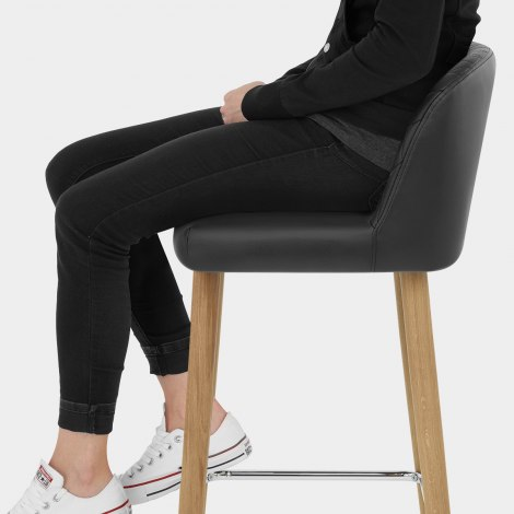 Pacific Wooden Stool Black Seat Image
