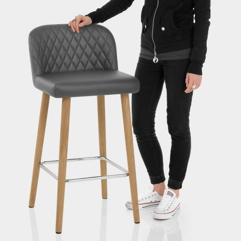 Pacific Wooden Stool Grey Features Image
