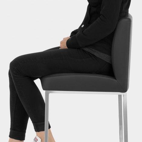 Pacino Stool Black Seat Image