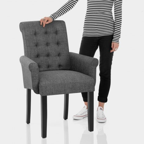 Packwood Dining Chair Grey Fabric Features Image