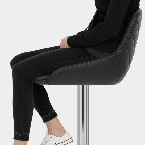 Palace Bar Stool Black Seat Image