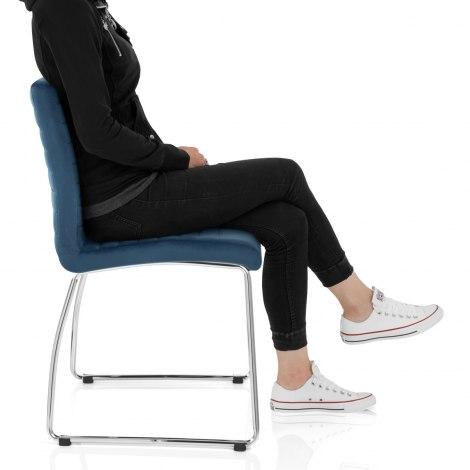 Panache Dining Chair Blue Velvet Frame Image