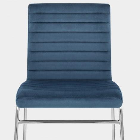 Panache Dining Chair Blue Velvet Seat Image