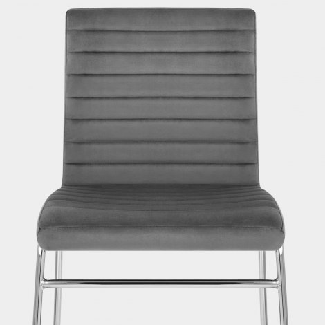 Panache Dining Chair Grey Velvet Seat Image