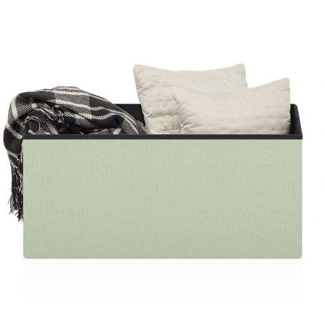 Pandora Foldable Ottoman Green Fabric Seat Image