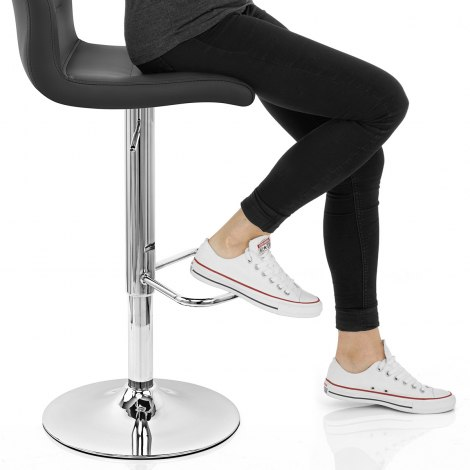Paradis Bar Stool Black Seat Image