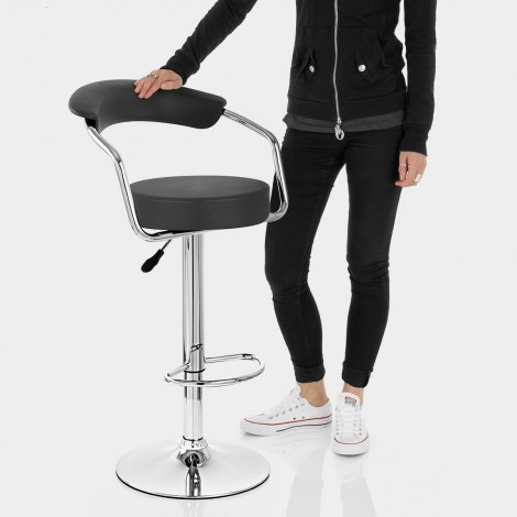 Pluto Bar Stool Black Features Image