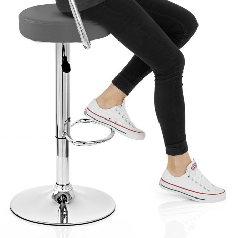 Pluto Bar Stool Grey Seat Image