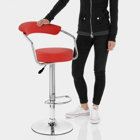 Pluto Bar Stool Red Features Image
