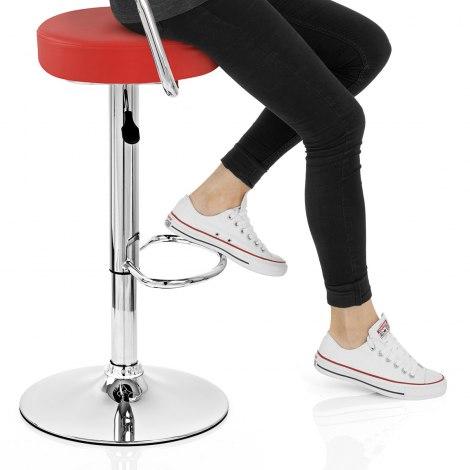 Pluto Bar Stool Red Seat Image