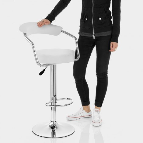Pluto Bar Stool White Features Image