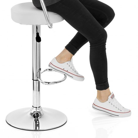 Pluto Bar Stool White Seat Image