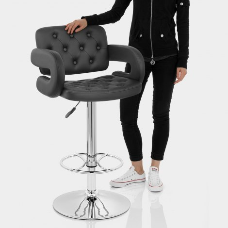 Polaris Bar Stool Black Features Image