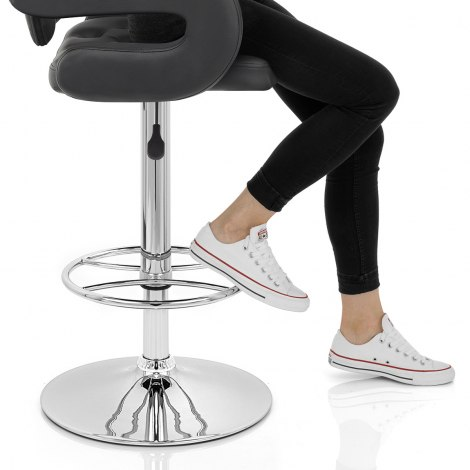 Polaris Bar Stool Black Seat Image