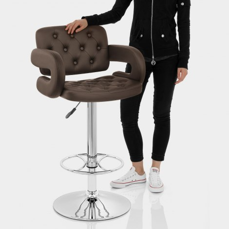 Polaris Bar Stool Brown Features Image