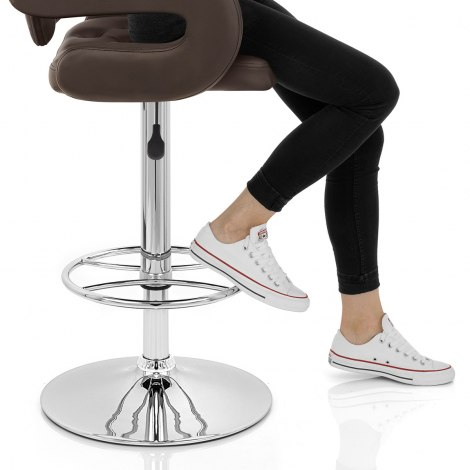 Polaris Bar Stool Brown Seat Image