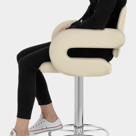 Polaris Bar Stool Cream Seat Image