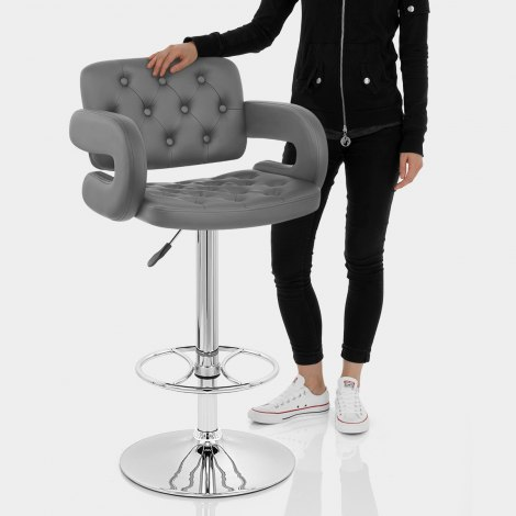 Polaris Bar Stool Grey Features Image