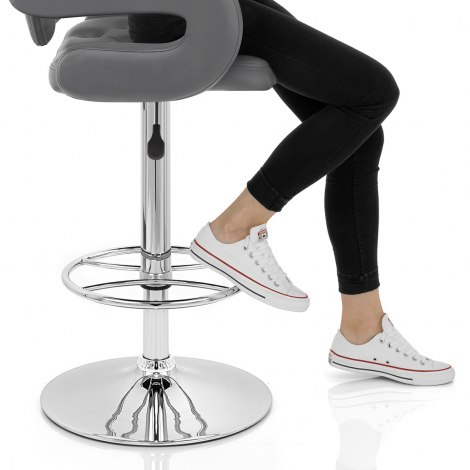 Polaris Bar Stool Grey Seat Image