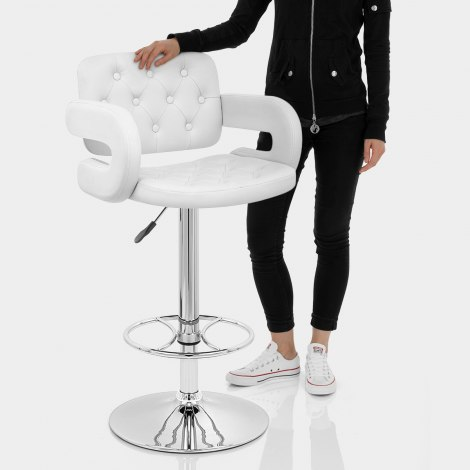 Polaris Bar Stool White Features Image