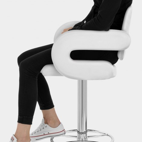 Polaris Bar Stool White Seat Image