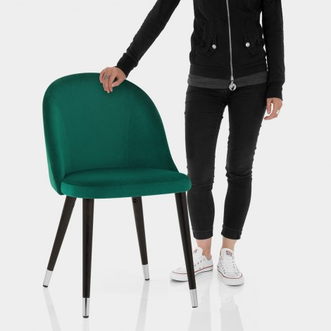 Polo Dining Chair Green Velvet Features Image