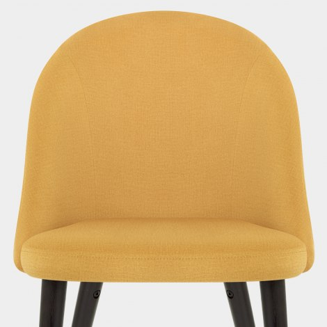 Polo Dining Chair Mustard Fabric Seat Image