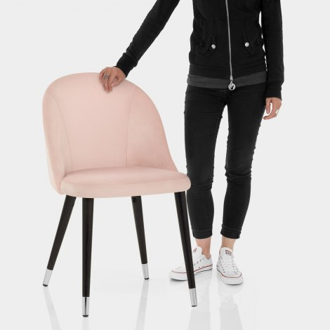 Polo Dining Chair Pink Velvet Features Image