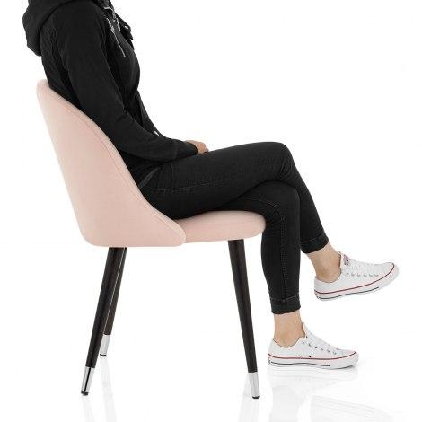 Polo Dining Chair Pink Velvet Frame Image