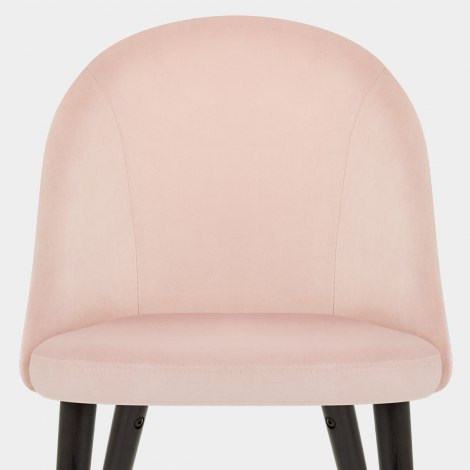 Polo Dining Chair Pink Velvet Seat Image