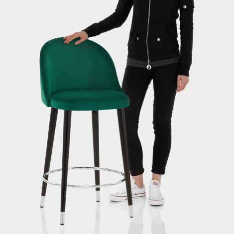Polo Bar Stool Green Velvet Features Image