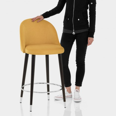 Polo Bar Stool Mustard Fabric Features Image